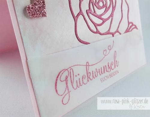 Stampin up Landshut - Hochzeitskarte Rose Perfekter Tag 2
