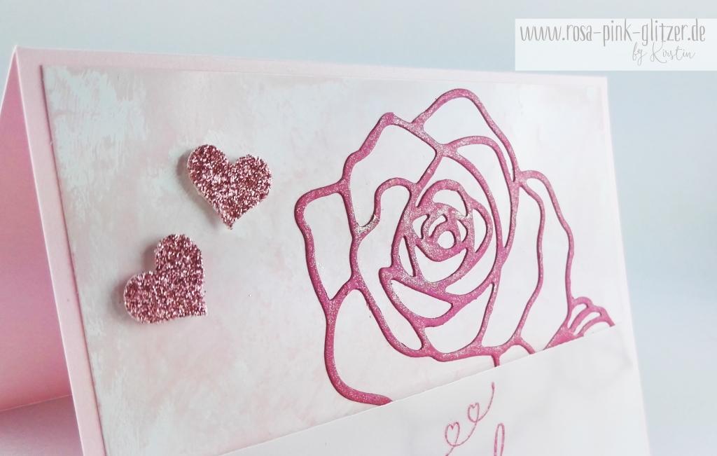 Stampin up Landshut - Hochzeitskarte Rose Perfekter Tag 3