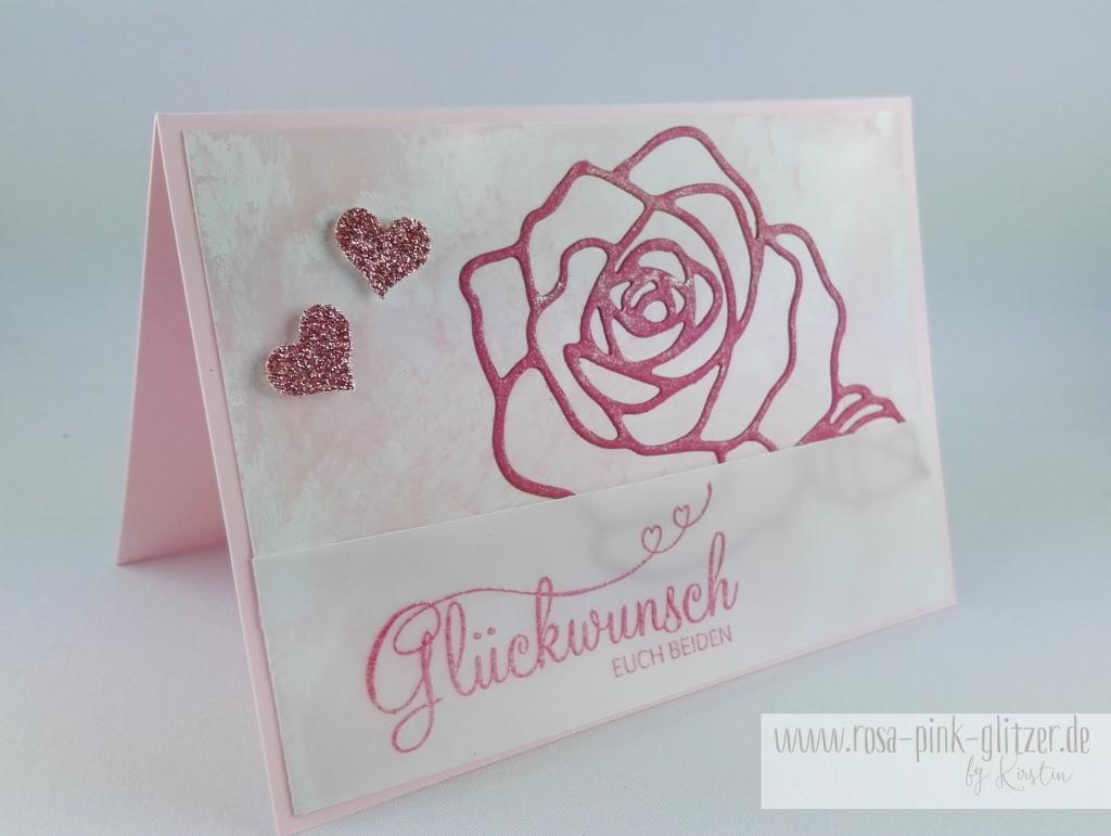 Stampin up Landshut - Hochzeitskarte Rose Perfekter Tag 4