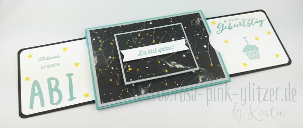 Stampin up Landshut - double slider card Abi Geburtstag 3