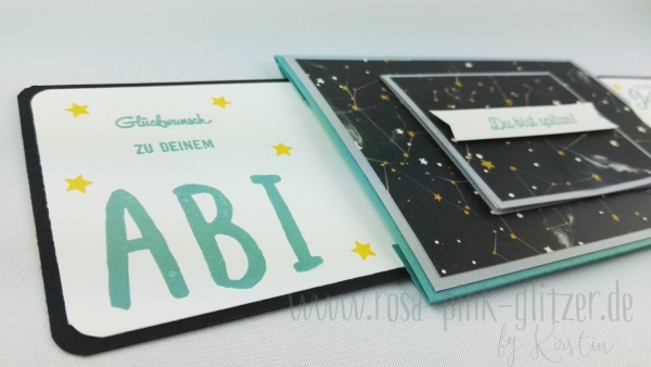 Stampin up Landshut - double slider card Abi Geburtstag 5