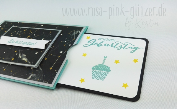 Stampin up Landshut - double slider card Abi Geburtstag 6