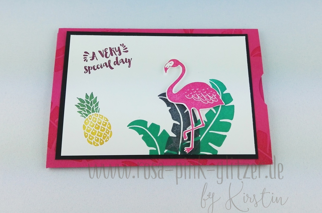 Stampin up Landshut - Flamingo Double Slider Card 1