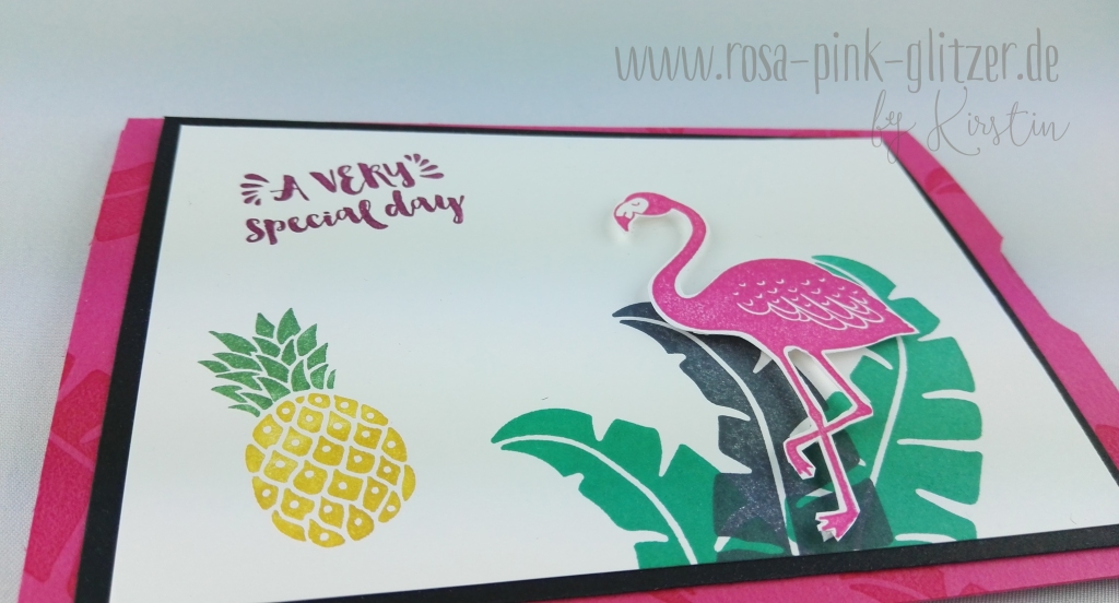 Stampin up Landshut - Flamingo Double Slider Card 2