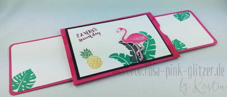 Stampin up Landshut - Flamingo Double Slider Card 3