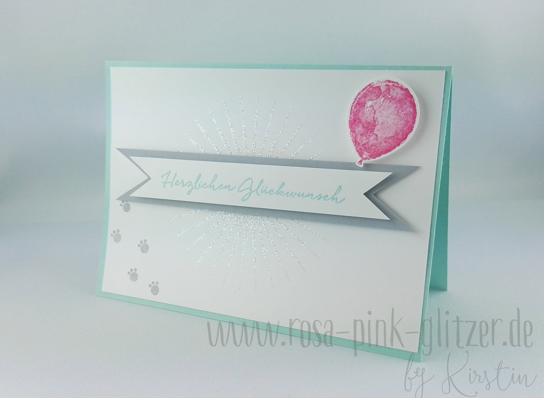 gl ckwunschkarte zur gewonnenen wahl rosa pink alles was glitzert. Black Bedroom Furniture Sets. Home Design Ideas