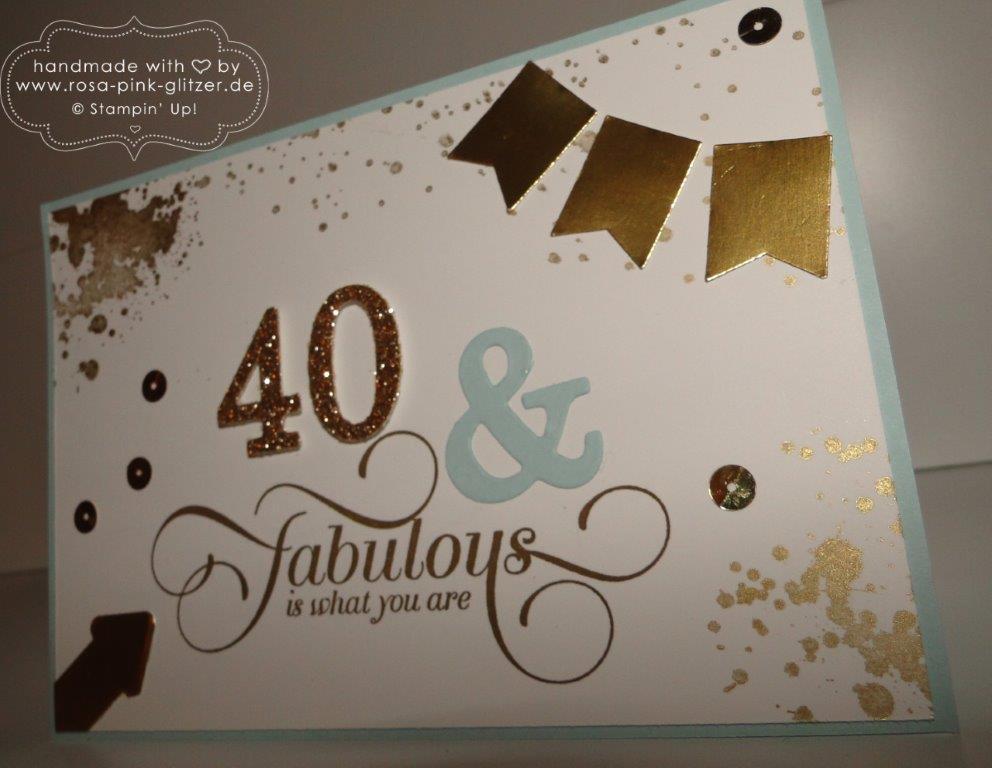 Stampiin up Landshut - Karte Geburtstag 40 Gorgeous Grunge 1