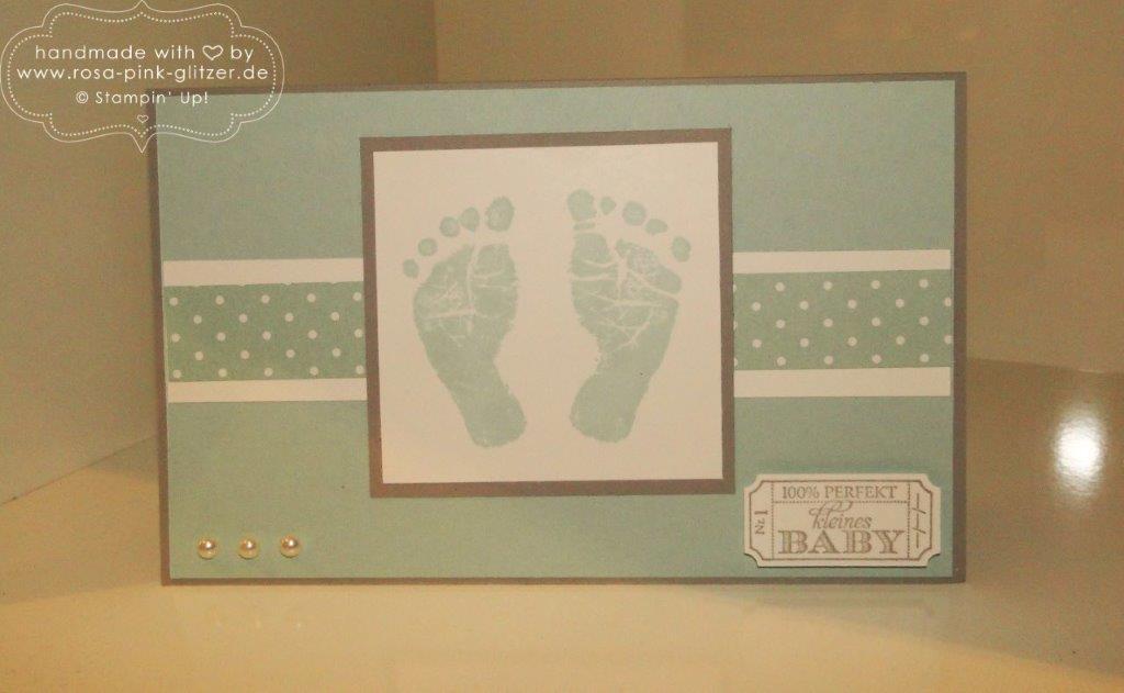 stampin up landshut- babykarte babyglück 1