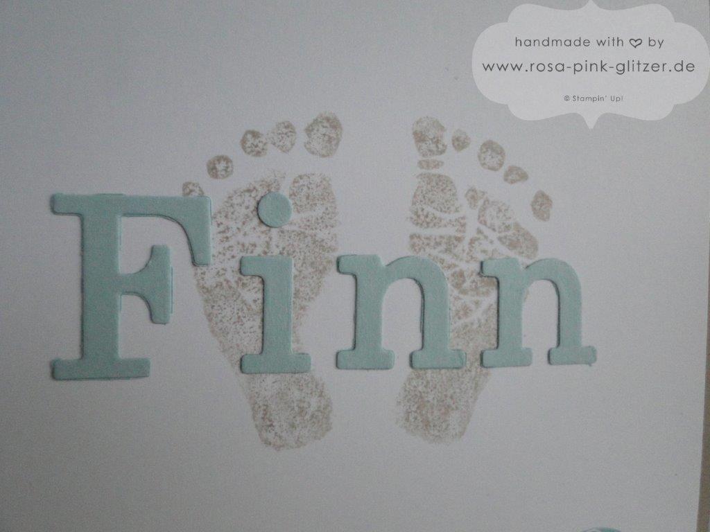 Stampin up Landshut - Babykarte - Babyglück 3