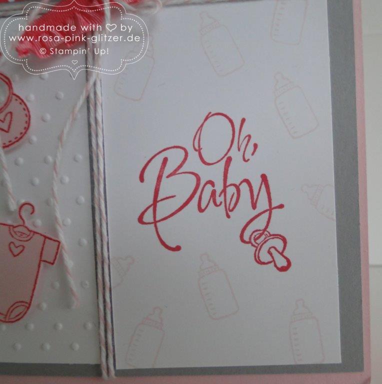 Stampin up Landshut - Fürs Baby Babykarte imc 2