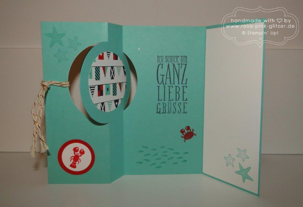 Stampin up Landshut - Flip-Flop-Karte Seastreet 2