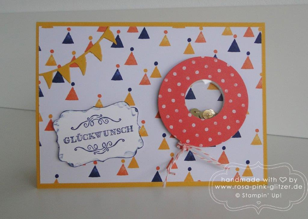Stampin up Landshut - Geburtstagskarte Luftballon