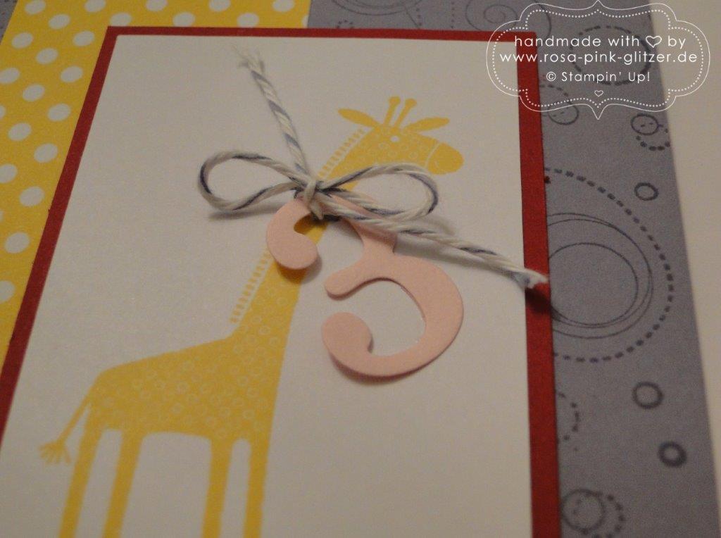 Stampin up Landshut - Karte Kindergeburtstag Zoo Babies 2