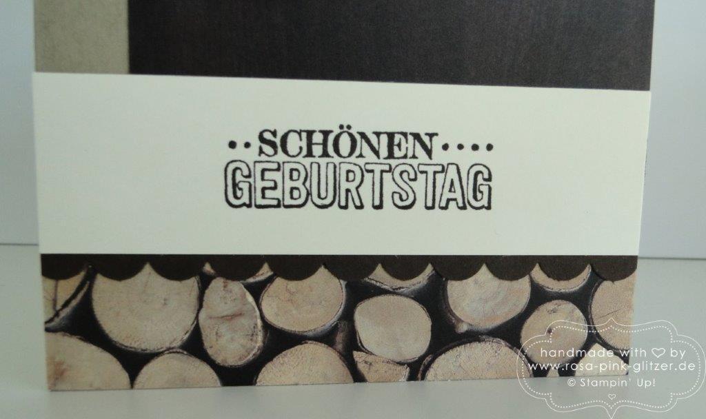 Stampin up Landshut - Männerkarte Holz 3