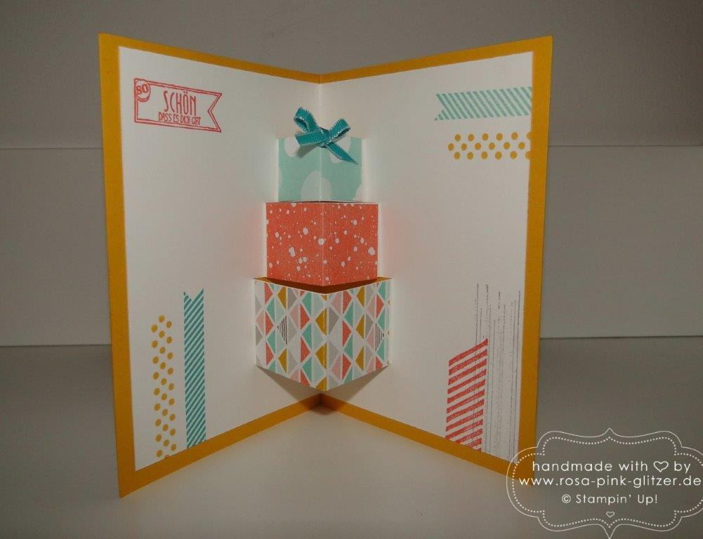 Stampin up Landshut - Pop up Karte Gorgeous Grunge 3