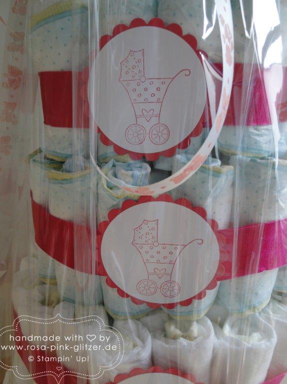 Stampin up Landshut - Windeltorte fürs Baby 3