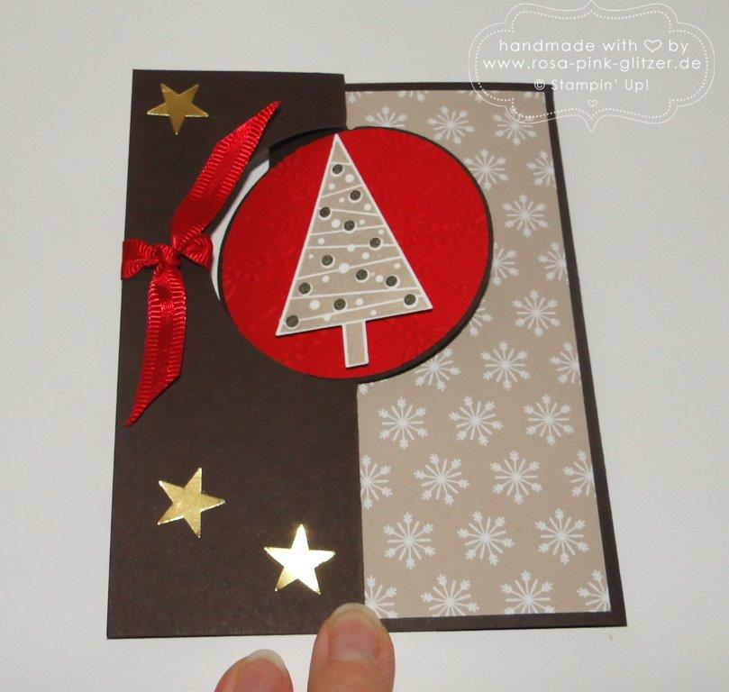 Stampin up Christbaumfestival Flip-Flop-Karte 2