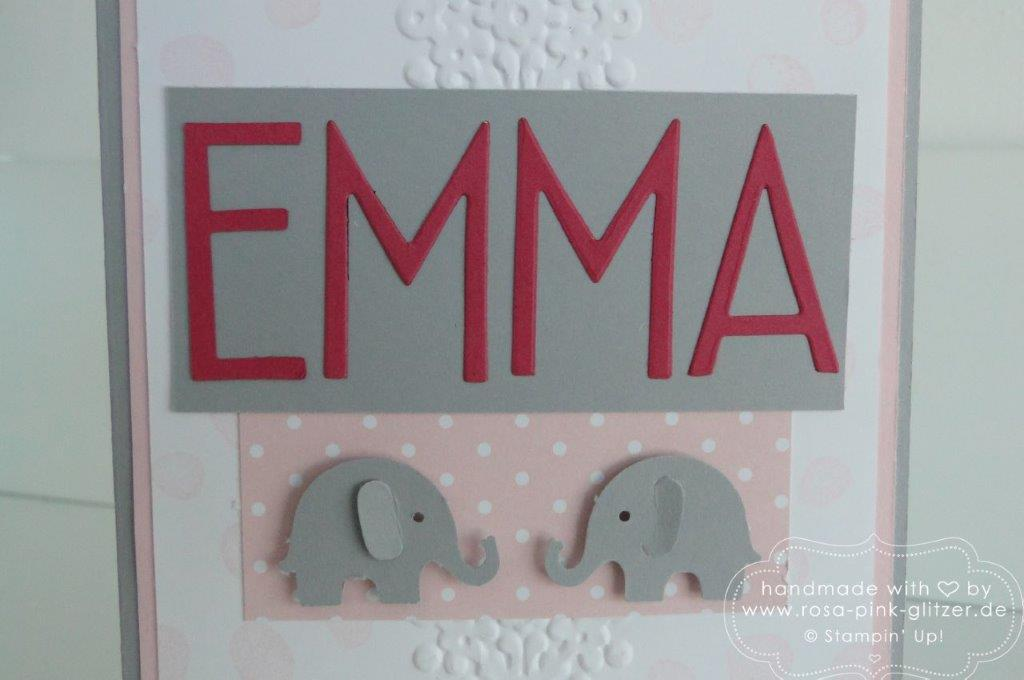 Stampin up Landshut - Babykarte Tag der Tage Emma Linus 2