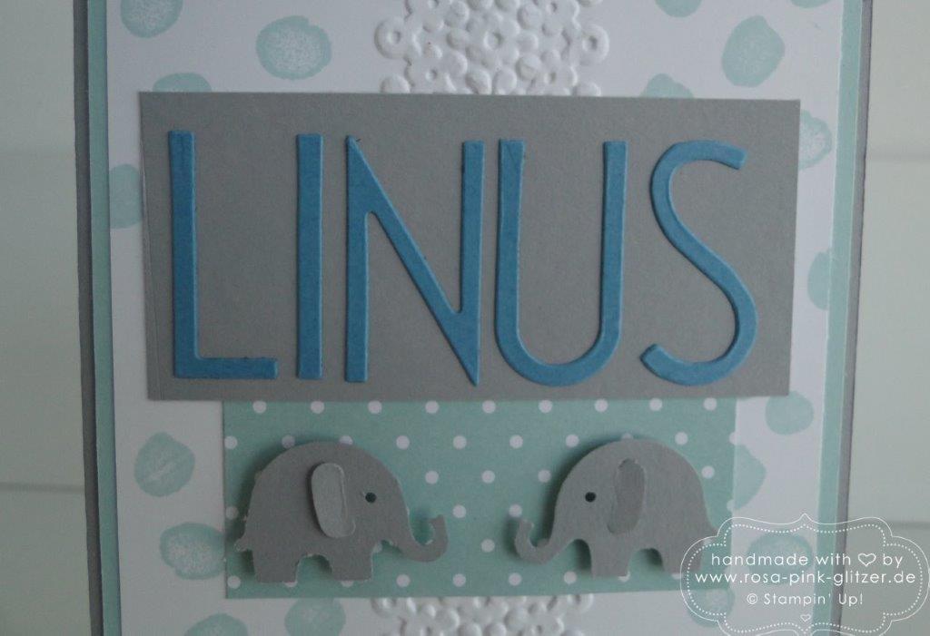 Stampin up Landshut - Babykarte Tag der Tage Emma Linus 3
