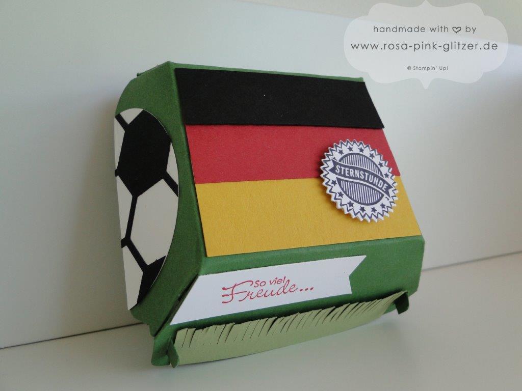 Stampin up Landshut Hamburger Box Fußball WM 2014 Deutschland Brasilien 2