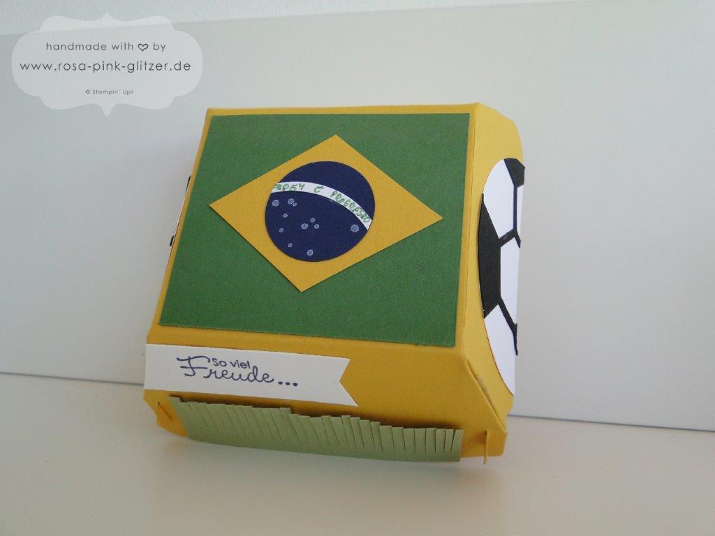 Stampin up Landshut Hamburger Box Fußball WM 2014 Deutschland Brasilien 3