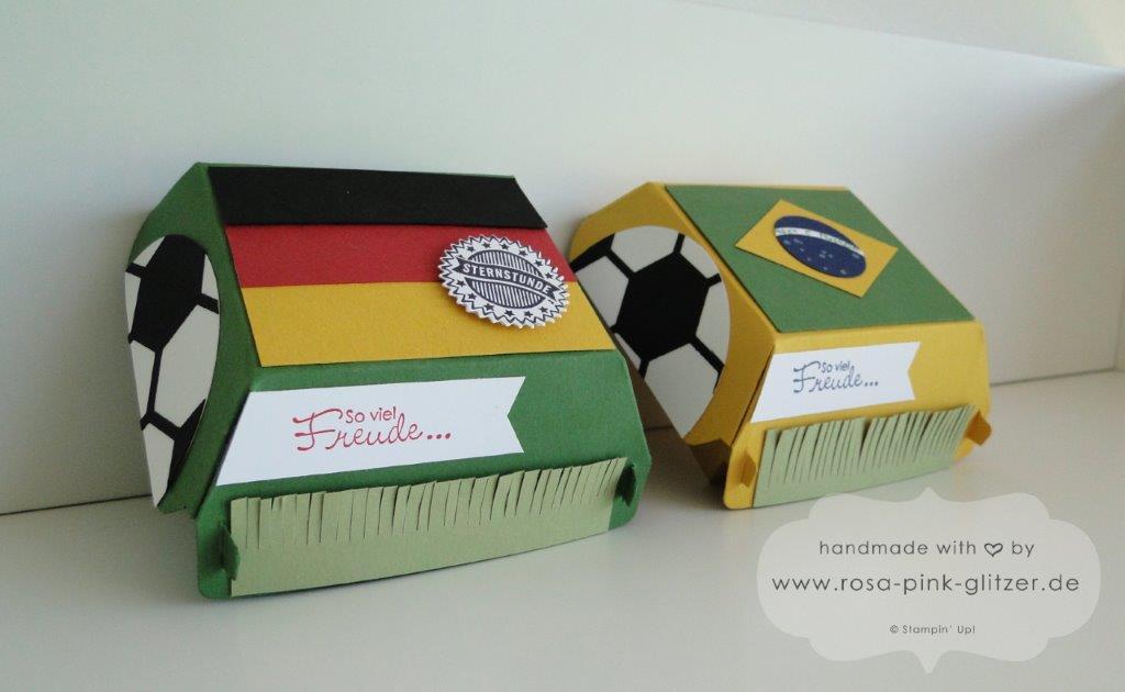 Stampin up Landshut Hamburger Box Fußball WM 2014 Deutschland Brasilien 4