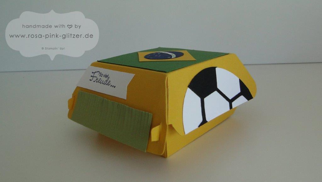 Stampin up Landshut Hamburger Box Fußball WM 2014 Deutschland Brasilien 5