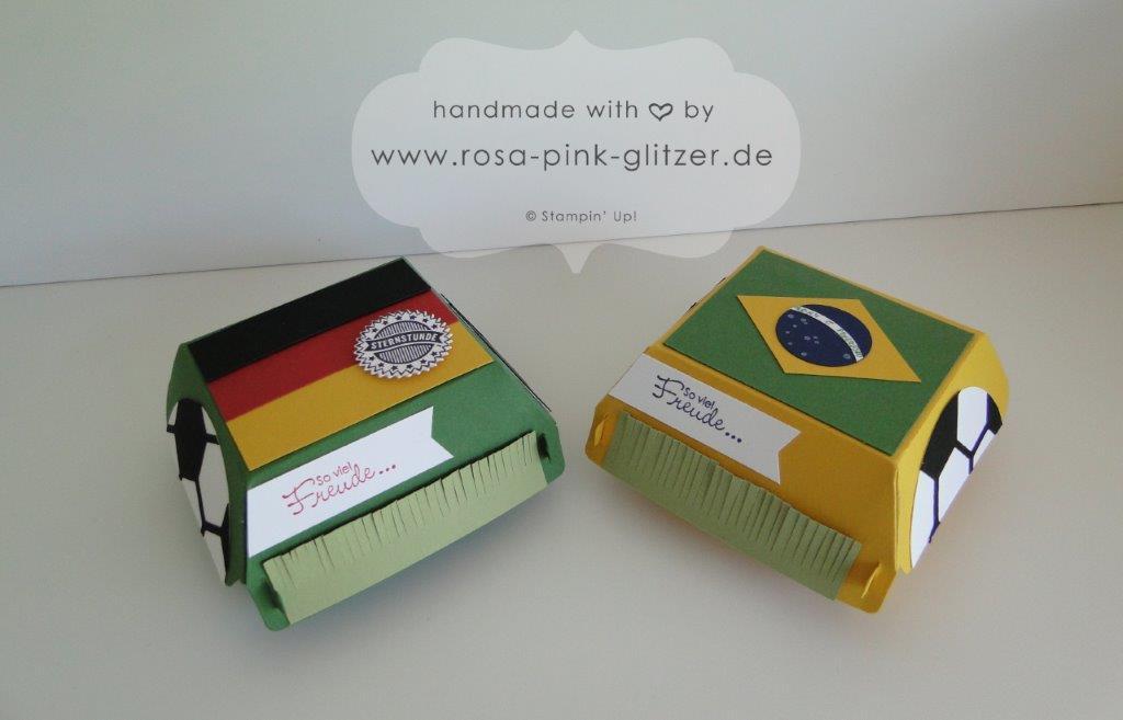 Stampin up Landshut Hamburger Box Fußball WM 2014 Deutschland Brasilien