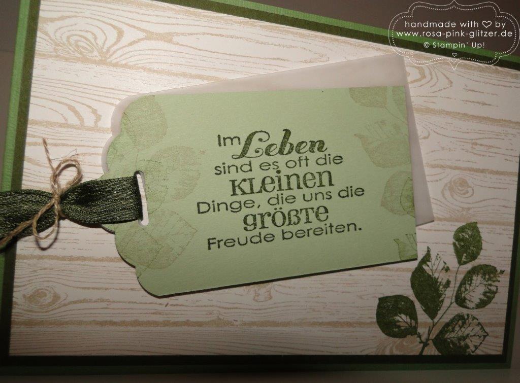 Stampin up Landshut - Hardwood Männerkarte grün imc 2