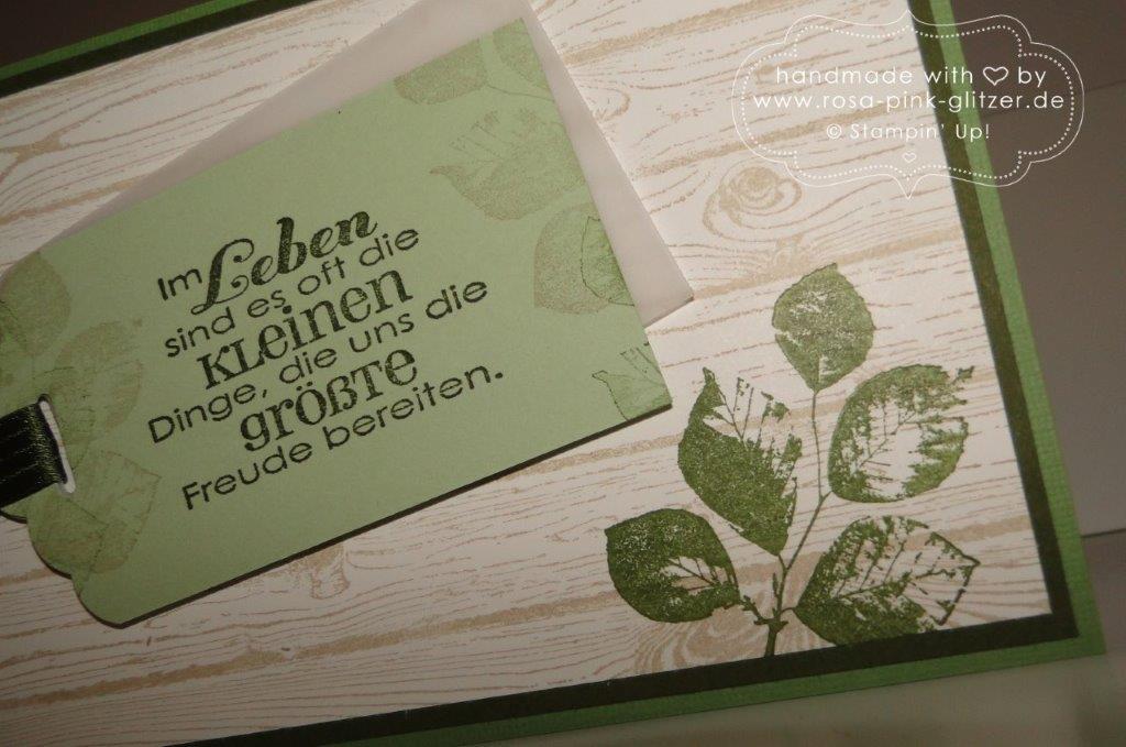 Stampin up Landshut - Hardwood Männerkarte grün imc 3
