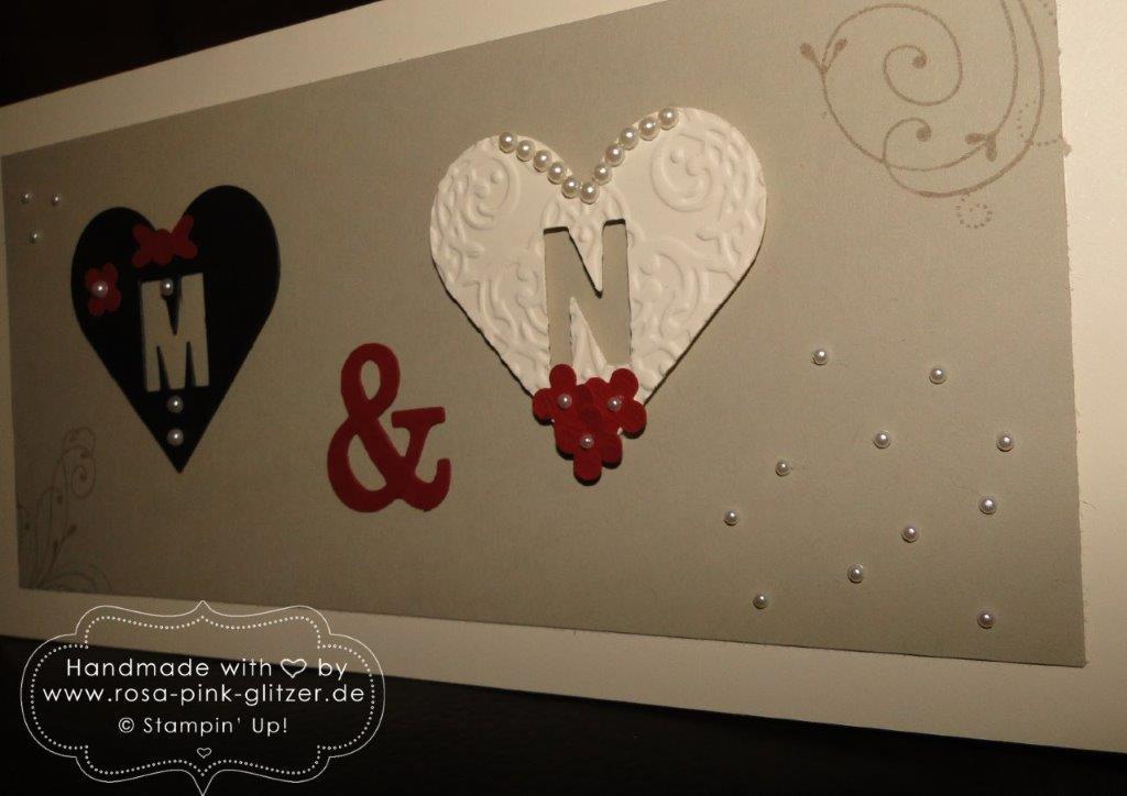 Stampin up Landshut - Hochzeitskarte mit Herz 3