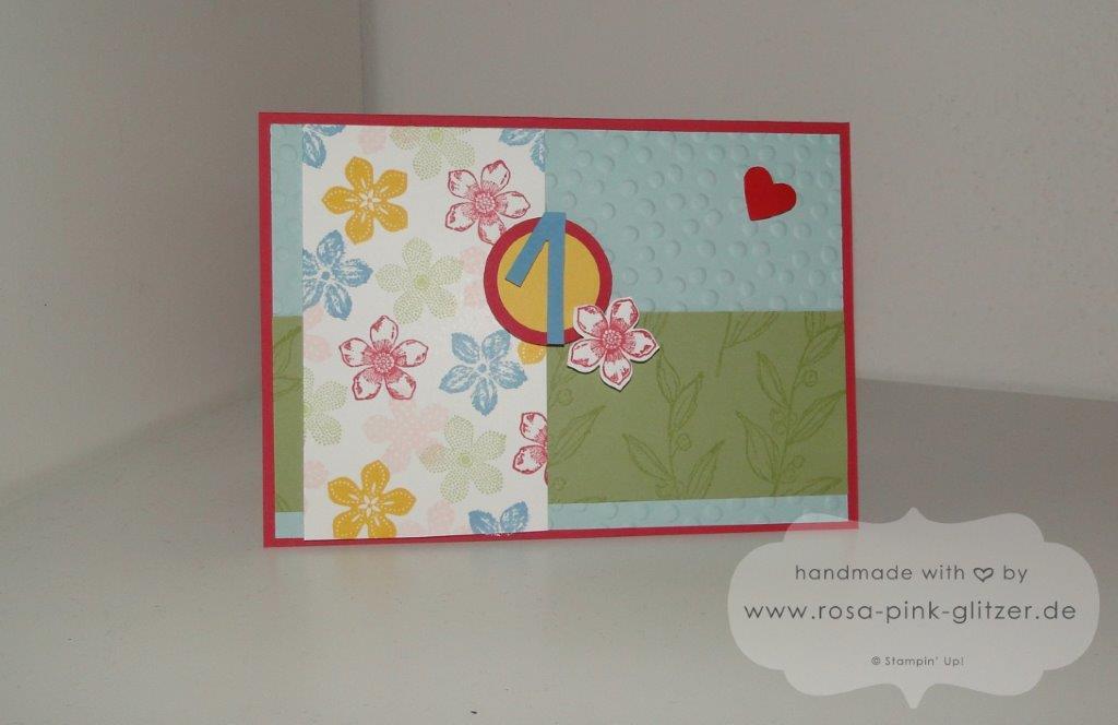 stampin up Landshut - Karte 1 Geburtstag Petite Petals 1
