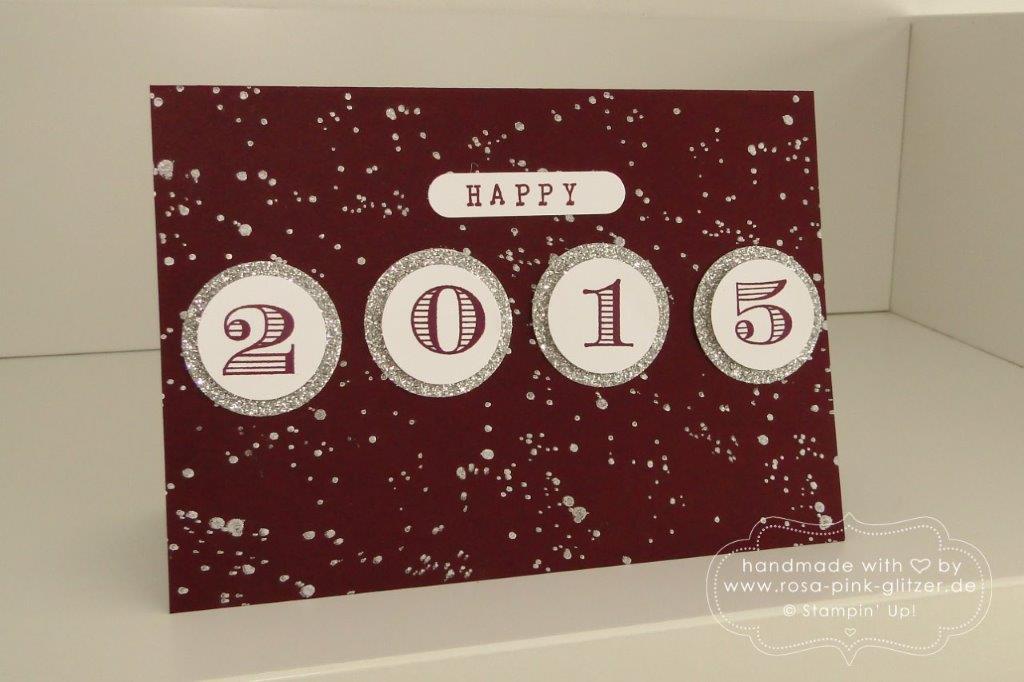 Stampin up Landshut - Karte Silvester Neujahr 2015 brombeermousse 3