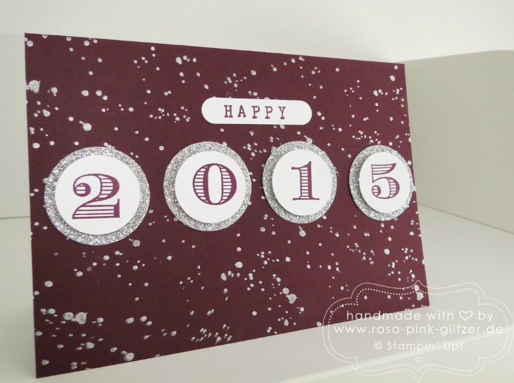 Stampin up Landshut - Karte Silvester Neujahr 2015 brombeermousse