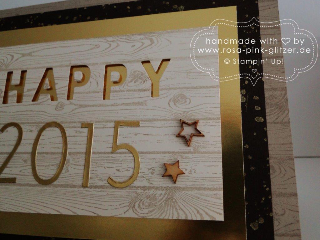 Stampin up Landshut - Karte Silvester Neujahr 2015 rustikal Hardwood 3