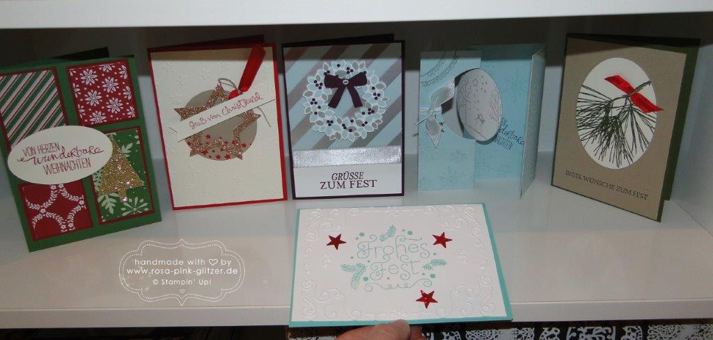 Stampin up Landshut - Last Minute Weihnachtskarten-Workshop 2