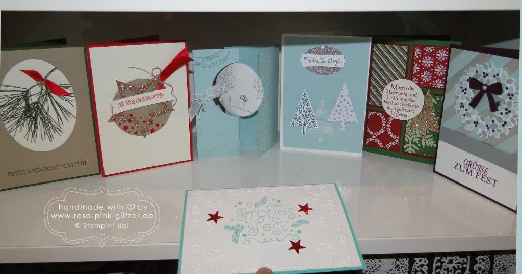Stampin up Landshut - Last Minute Weihnachtskarten-Workshop 3