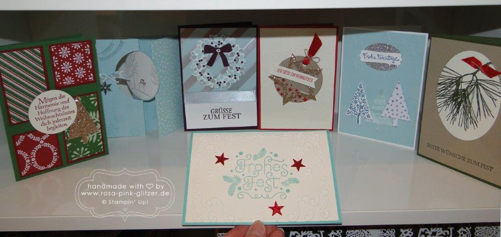 Stampin up Landshut - Last Minute Weihnachtskarten-Workshop 4