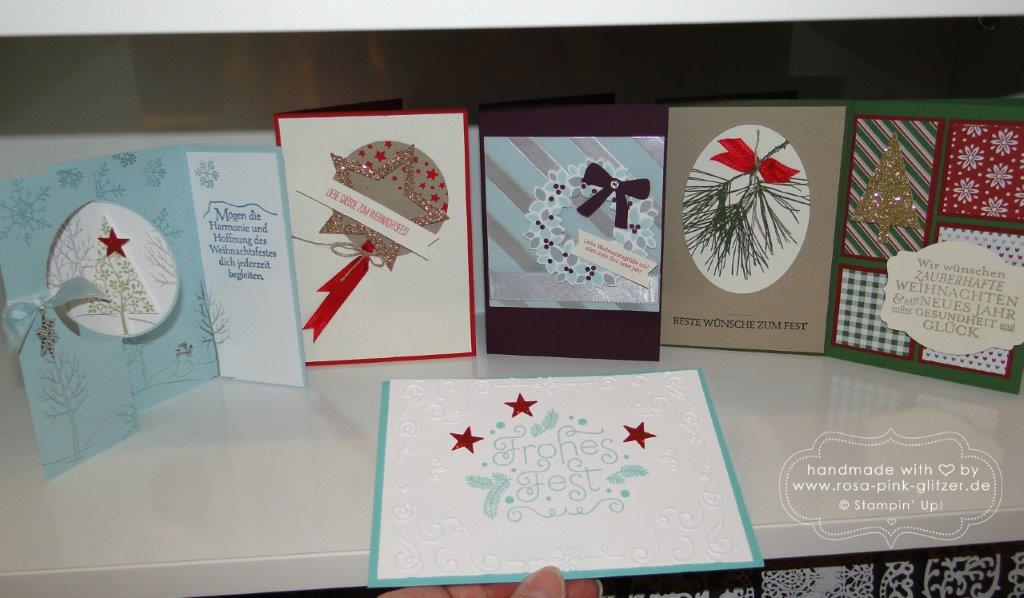 Stampin up Landshut - Last Minute Weihnachtskarten-Workshop 5
