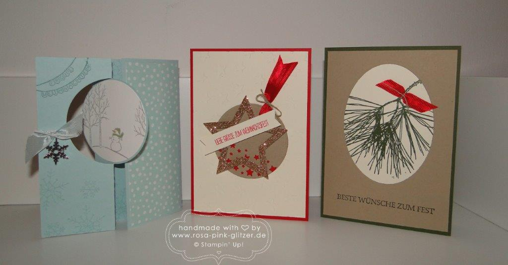Stampin up Landshut - Last Minute Weihnachtskartenworkshop 1