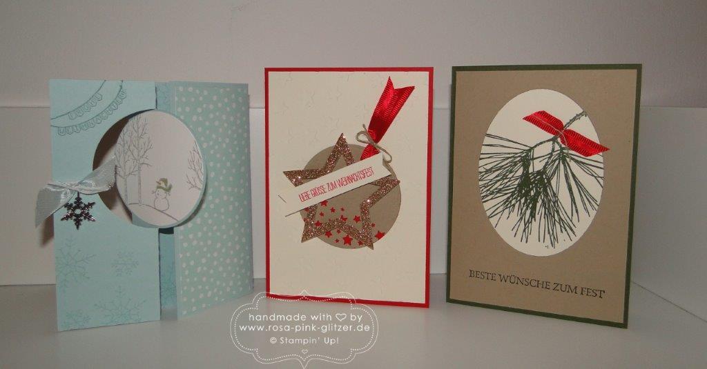 Stampin up Landshut - Last Minute Weihnachtskartenworkshop 1