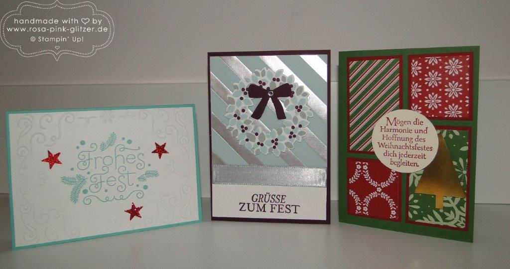 Stampin up Landshut - Last Minute Weihnachtskartenworkshop 2