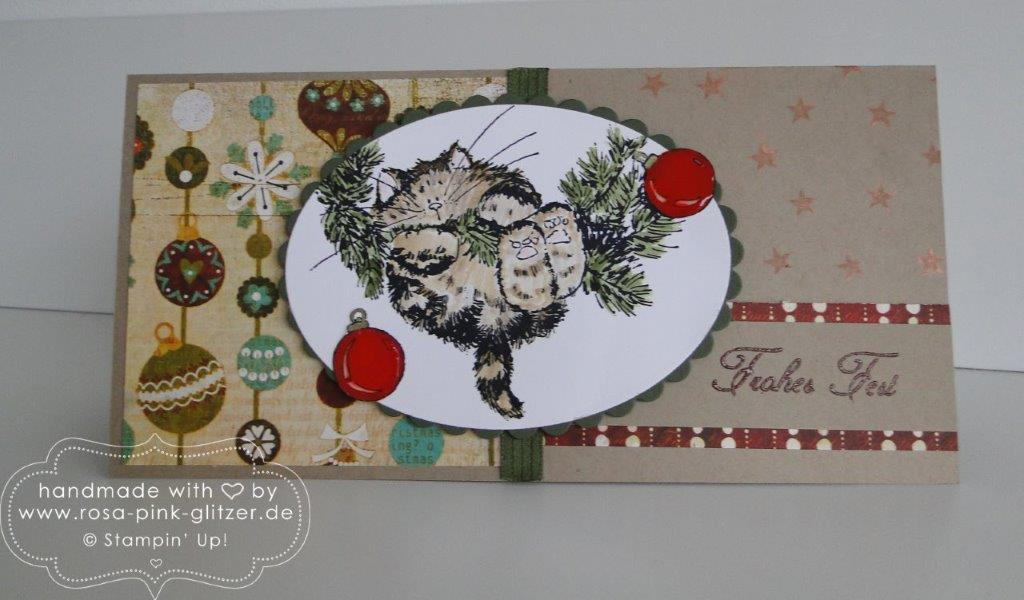 Stampin up Landshut - Penny Black Weihnachtskarte merry monday 1