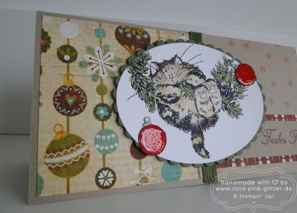 Stampin up Landshut - Penny Black Weihnachtskarte merry monday 2