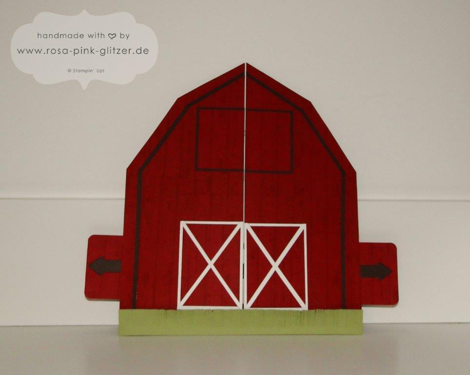 Stampin up Landshut - Schiebekarte Ziehkarte Farm Punch Art Designwettbewerb Convention 2014 1