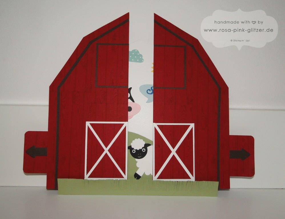 Stampin up Landshut - Schiebekarte Ziehkarte Farm Punch Art Designwettbewerb Convention 2014 2