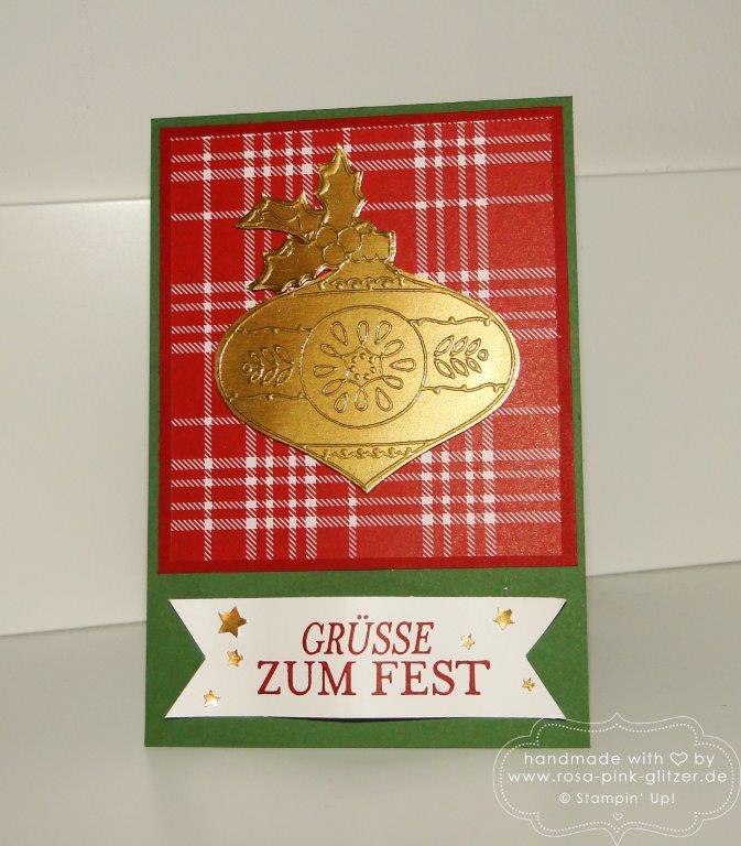 Stampin up Landshut - Traditionelle Weihnachten 2