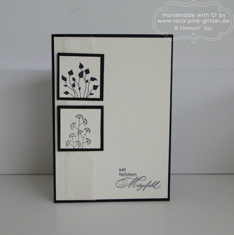 Stampin up Landshut - Trauerkarte Mit tiefstem Mitgefühl 1