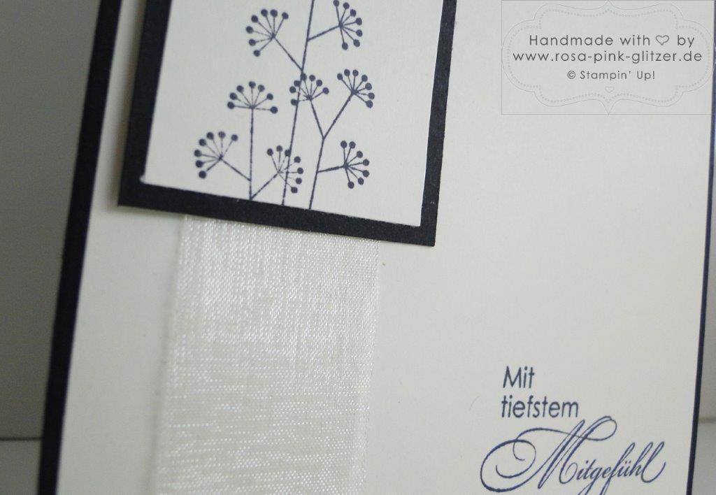 Stampin up Landshut - Trauerkarte Mit tiefstem Mitgefühl 3