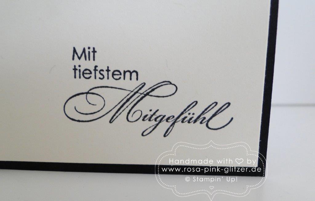 Stampin up Landshut - Trauerkarte Mit tiefstem Mitgefühl 4